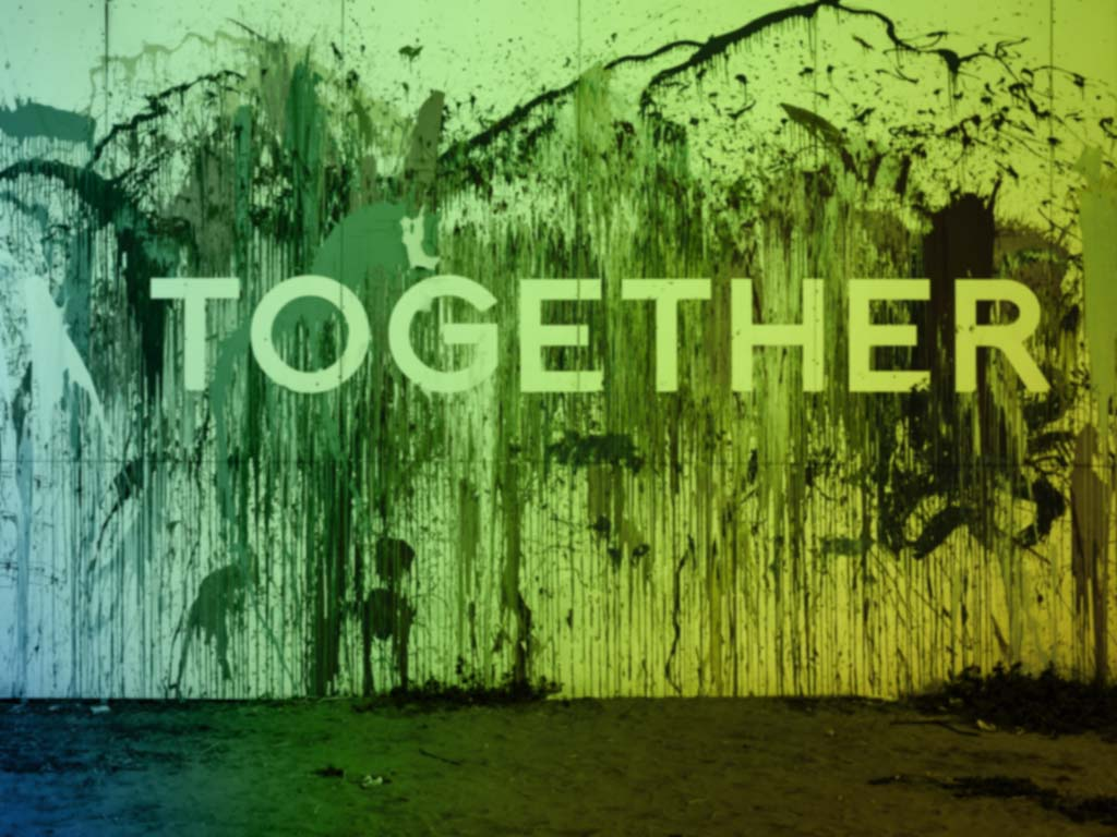 "Wall with the word ""Together"" symbolising our fear to lose relationship"